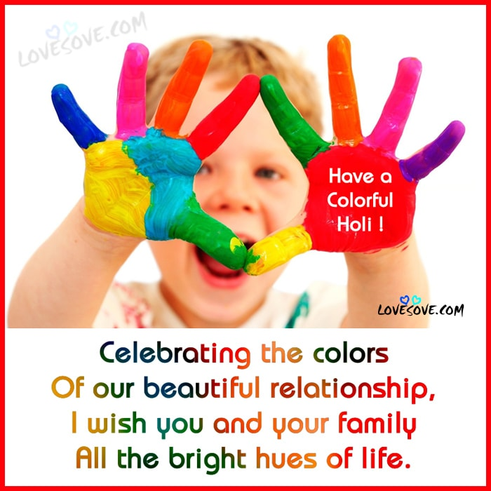 Cute-Boy-Holi-Colour-Hands Happy Holi 2017 Hindi Wishes Images, Facebook WhatsApp Holi Pictures