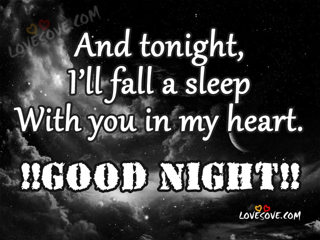 And Tonight, I'll Fall A Sleep, Good Night Wishes Images