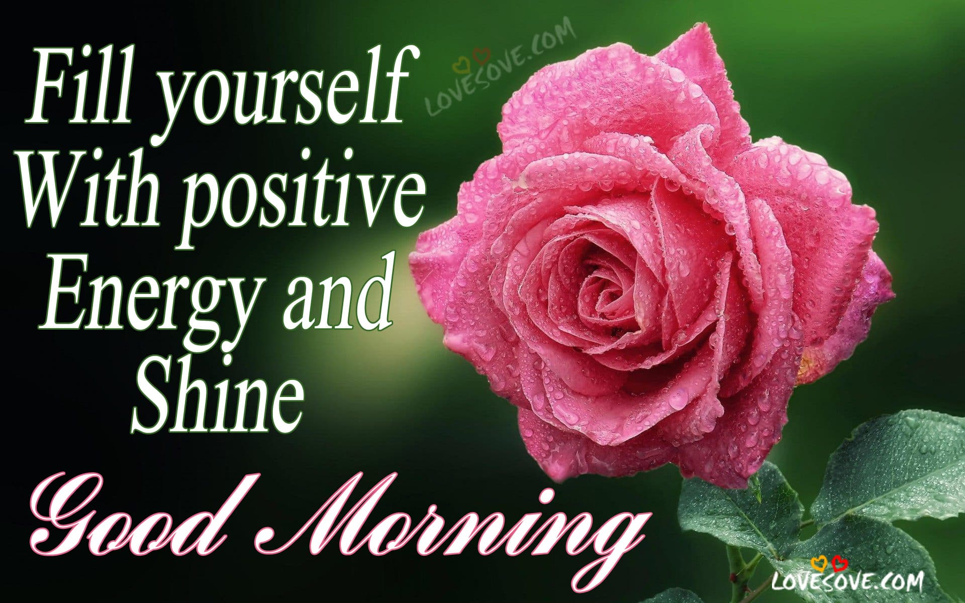 Fill yourself with positive energy and shine, Good Morning