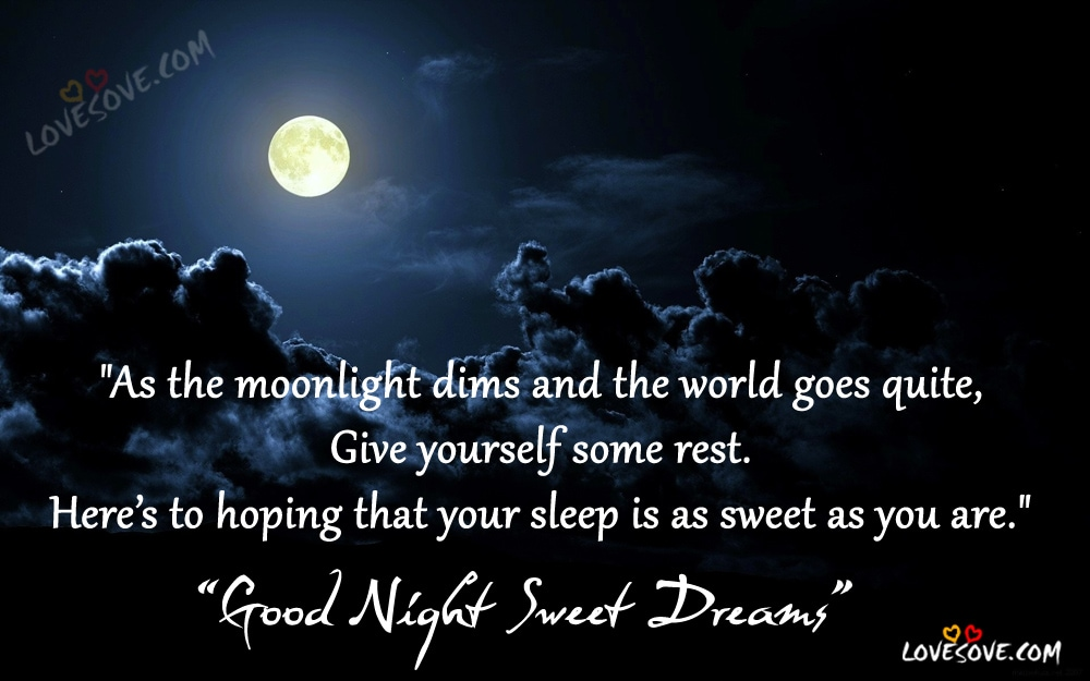As the moonlight, Good Night Sweet Dreams Wishes Images