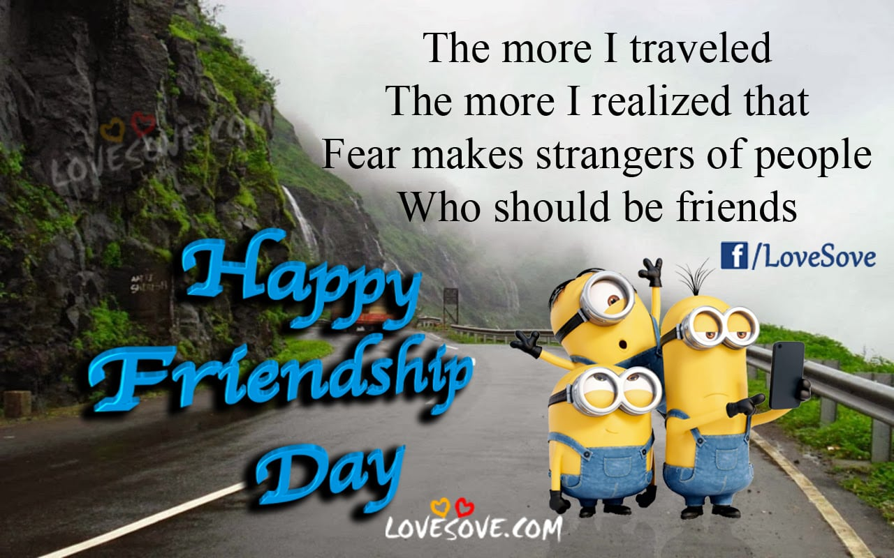 Dosti shayari images, Friendship day Quotes, The More I Traveled - Happy Friendship Day Images