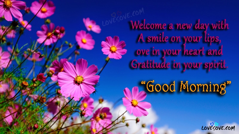 Welcome A New Day - Good Morning Wishes Card, Images, Wallpaper, Good Morning Wishes Images For Facebook, Good Morning Cards For WhatsApp Status, GM SMS