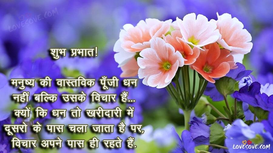 manushya ki vastavik punji shubh prabhat image good morning wishes