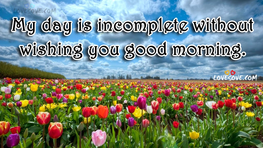 My Day Is Incomplete - Good Morning Wishes Image, Wallpaper