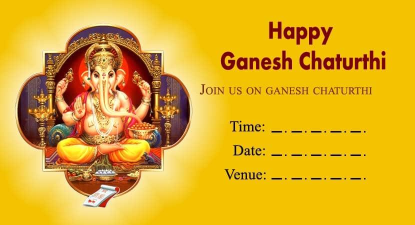 Blank Card For Ganpati Invitation Lovesove Lovesove Com