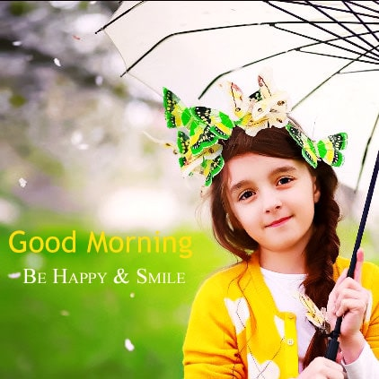 Good morning image cute girl