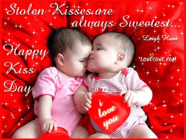 Happy Kiss Day 2017 Status Quotes, Kiss Wallpaper With Shayari