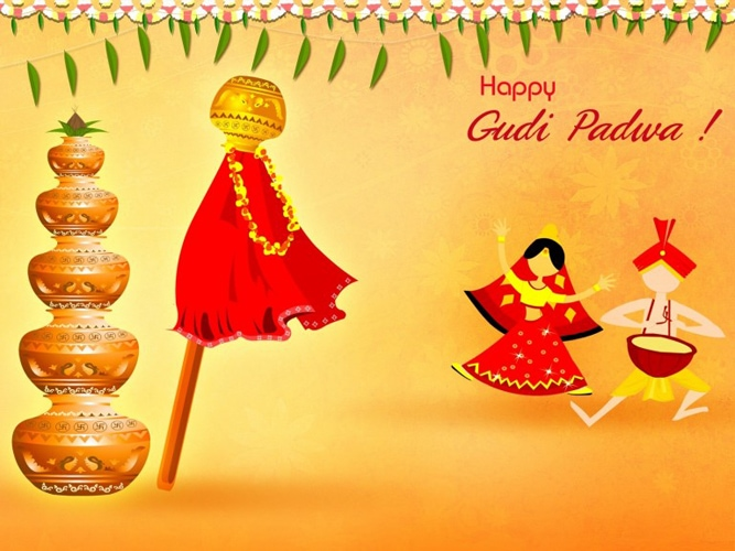 गुड़ी पड़वा Messages इन मराठी, Gudi Padwa SMS in English, Gudi Padwa Cards, Gudi Padwa Wishes, Gudi Padwa 2020 Wishes, The Maharashtrian Happy New Year Gudi Padwa Greeting, gudi padwa wishes in marathi, diwali padwa wishes, gudi padwa wishes for husband in marathi, good morning happy gudi padwa