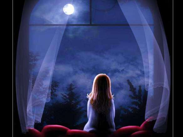 little-girl-front-moon-dreaming