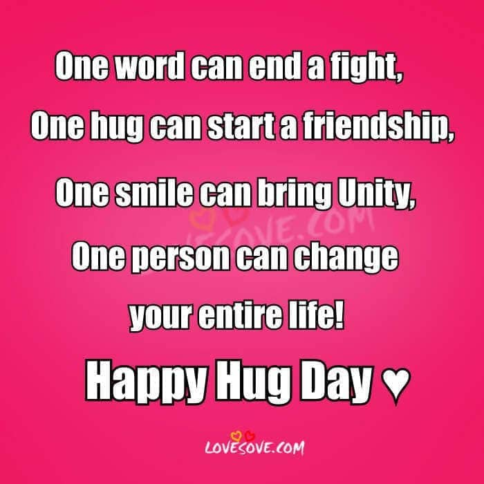 Happy Hug Day 2018 Hindi Status Shayari, Latest Hugs Images