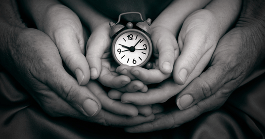family-hands-time