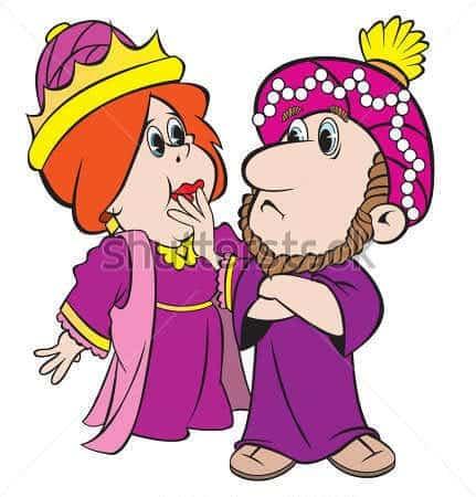 cartoon-art-of-queen-king