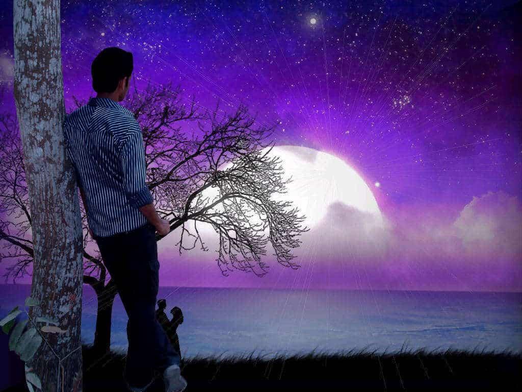 Sad boy tree alone l