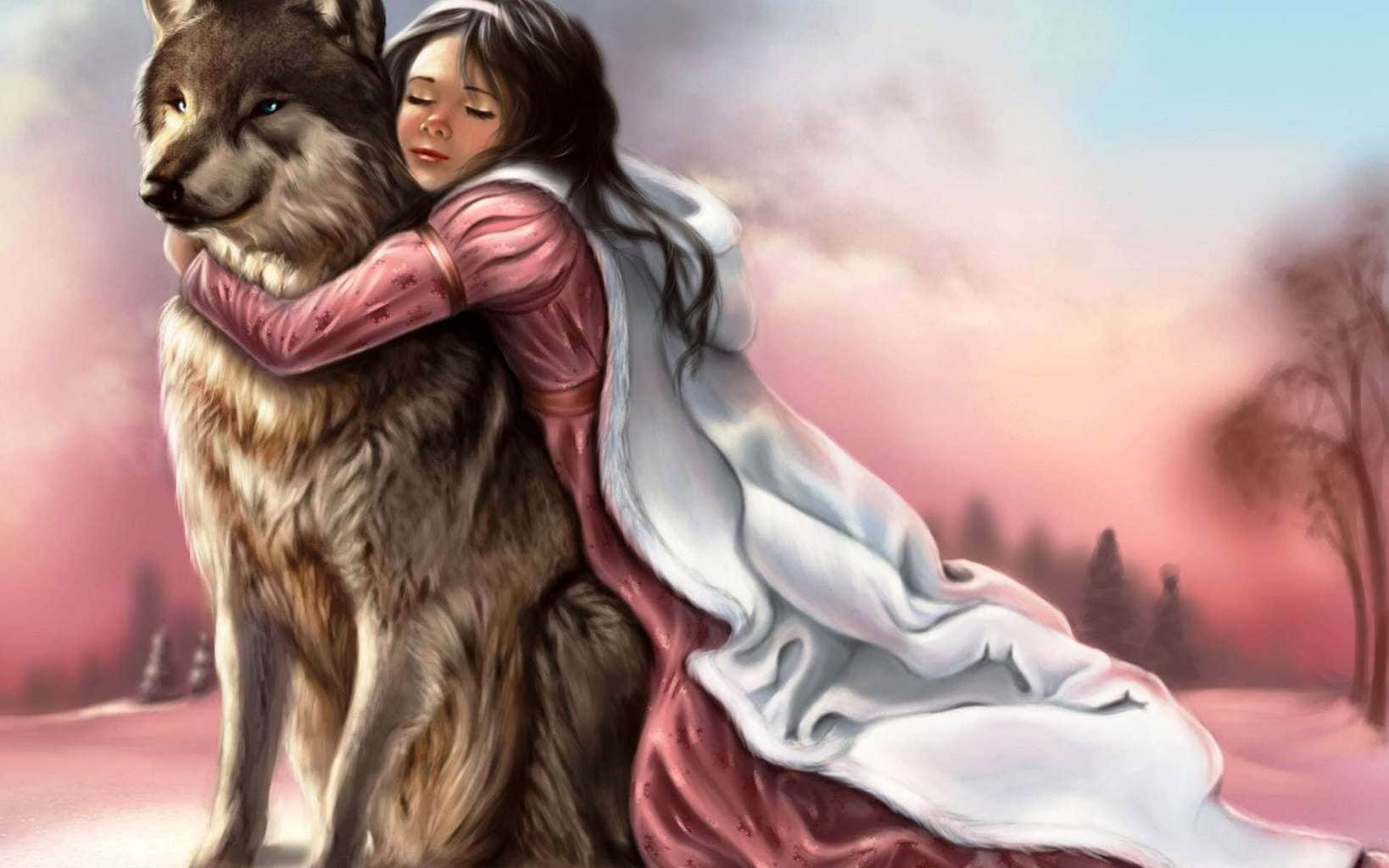 Dog-and-cute-girl-friendship-and-hugs