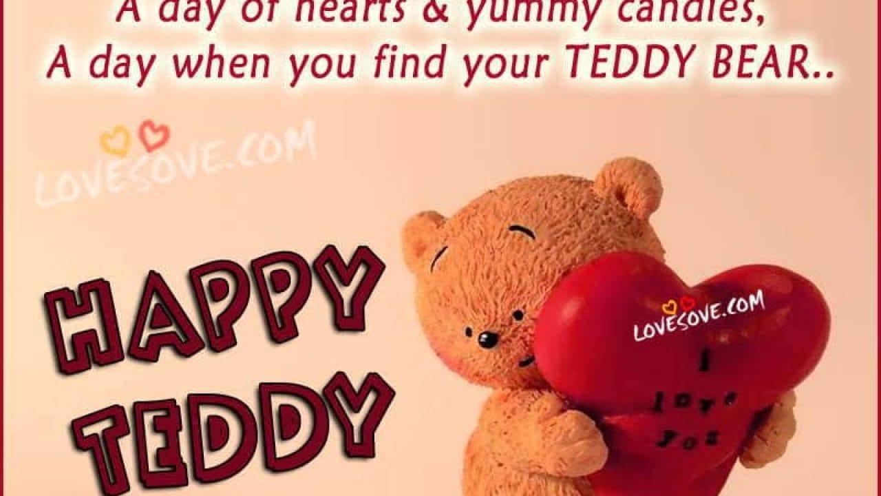 Happy Teddy Day 2019 Status Shayari, Teddy Bear Pics Images
