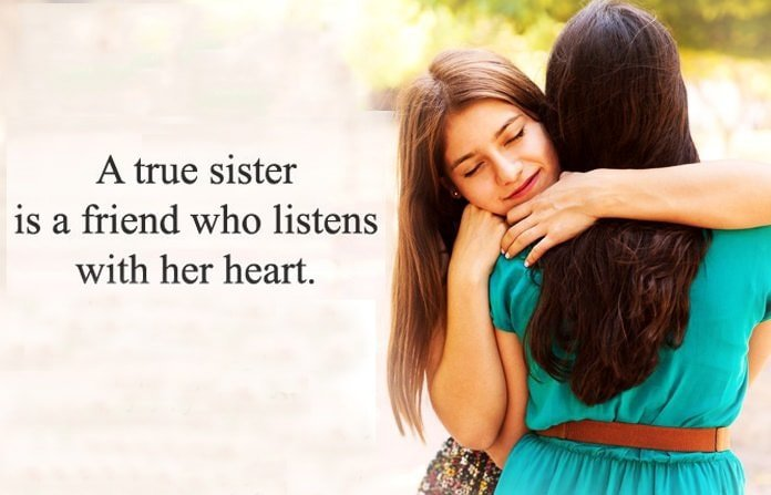 Best Sister Quotes Cute 2 Line Status For Sister Sister