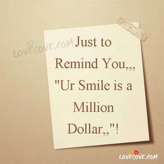 Just To Remind You, Smile Quotes Image For WhatsApp