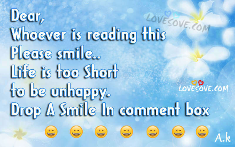 Dear Whoever Is Reading This Smile Quotes Status Images