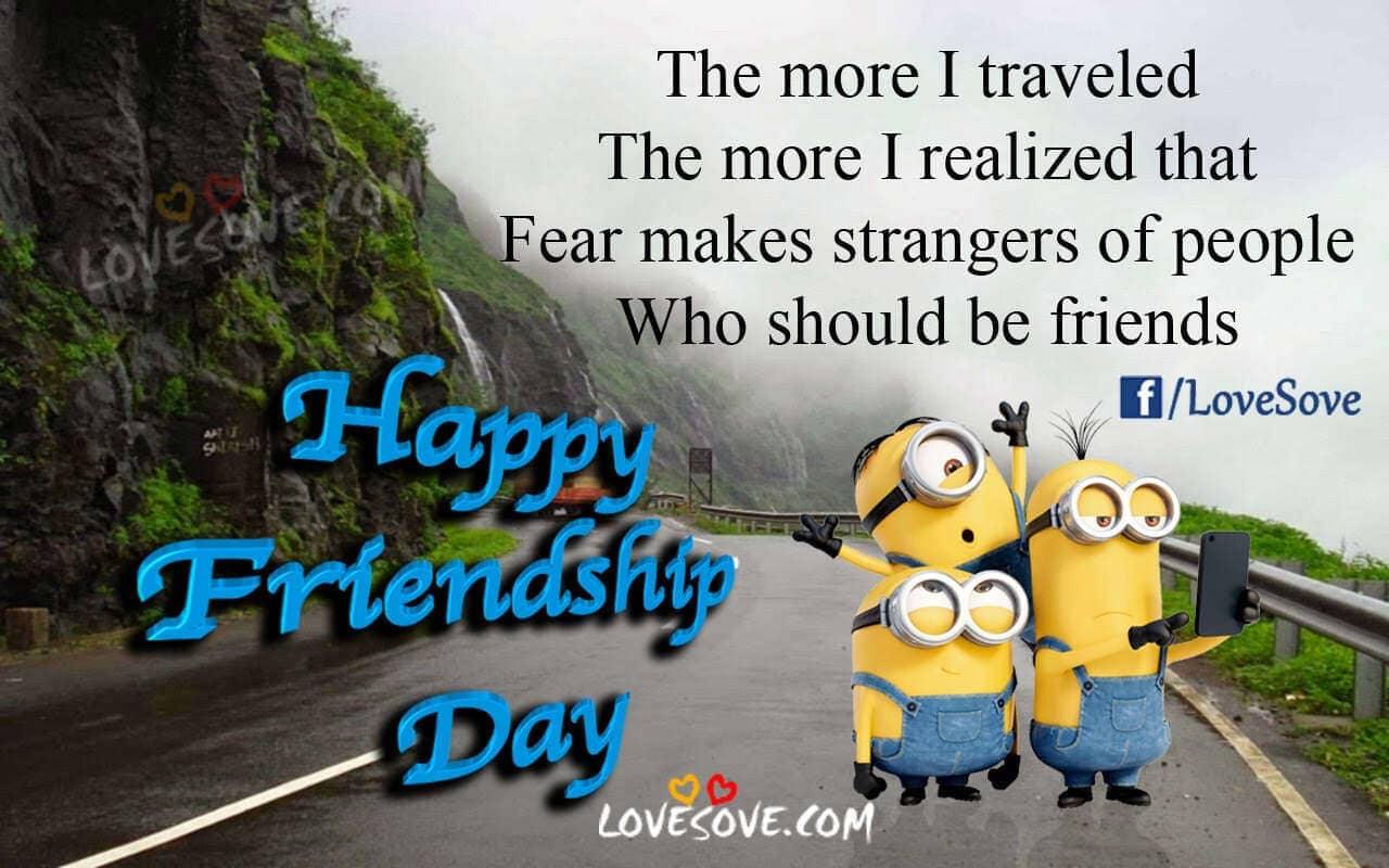 Happy Friendship Day Quotes, Shayari, Status, Images Hindi - English