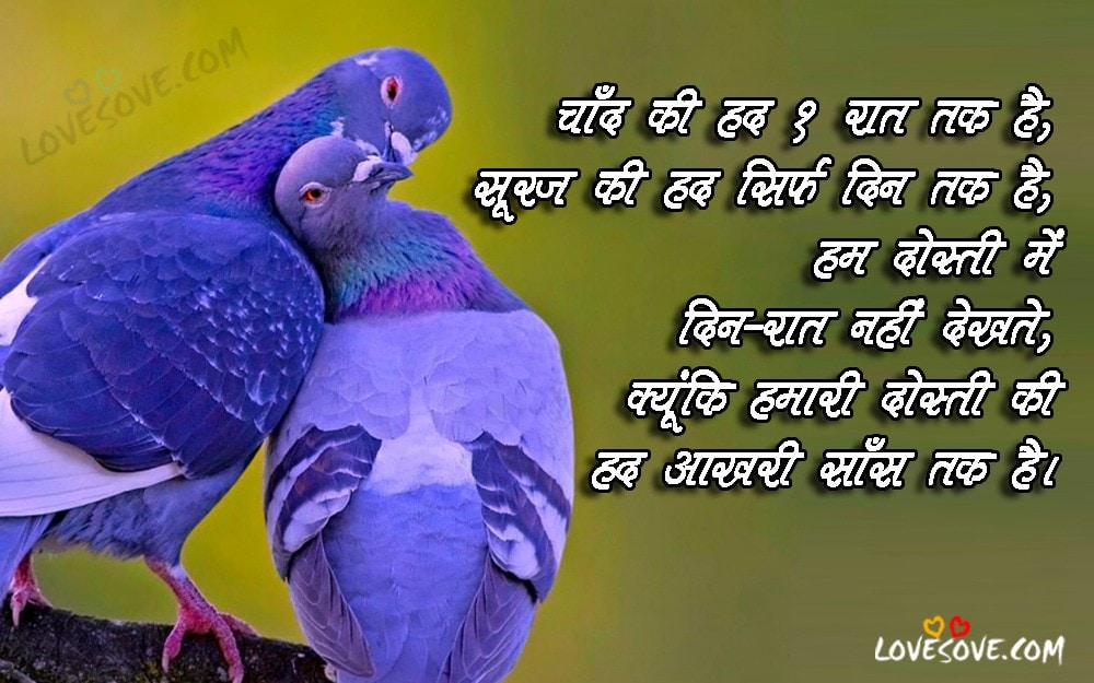 Best Hindi Friendship Shayaris, Quotes, Status Images