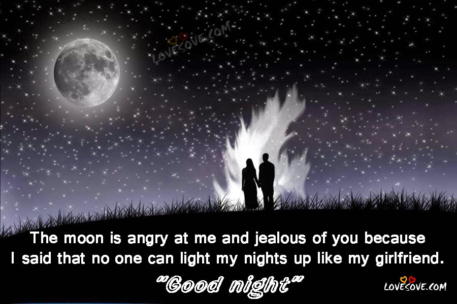 The Moon Is Angry - Good Night Wishes Images, Gn SMS, Good night Wishes Images For Facebook, Good Night Wishes For WhatsApp Friends