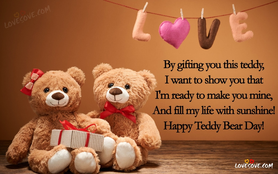 Teddy Day Quotes Wishes Status Sms Teddy Bear Images 2019