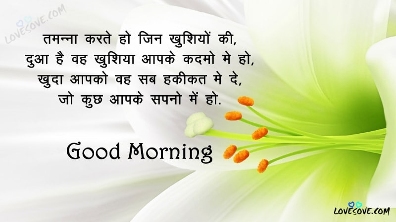 Tamanna Karte Ho Jin Khushiyon Ki Good Morning Shayari Images