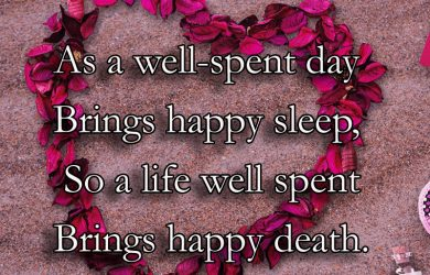 As A Well Spent Day Sad Life Quotes Wallpaper Love Messages