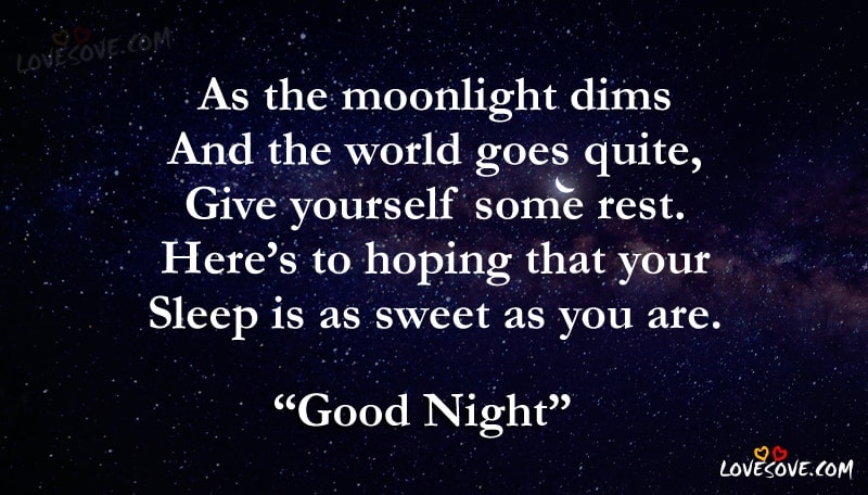 As The Moonlight Dims – Best Good Night Wishes, Gn Messages