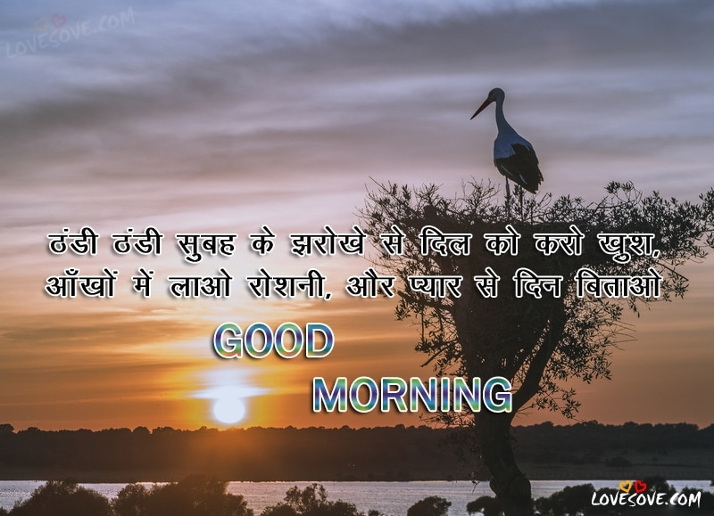 Thandi Thandi Subah Ke Jharokhe Se - Good Morning Wishes image, Good Morning Wishes For Facebook, Good Morning Shayari For WhatsApp