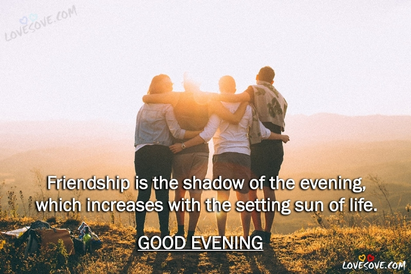 Friendship Is The Shadow Good Evening Quotes Friendship Quotes