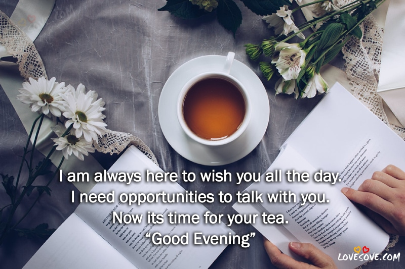 I Am Always Here To Wish Good Evening Quotes Image