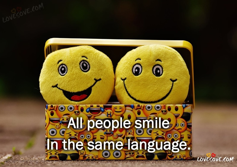 Best English Smile Quotes Status Images Wallpapers