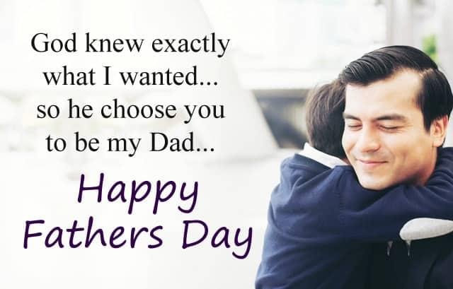 my dad wish you happy fathers day
