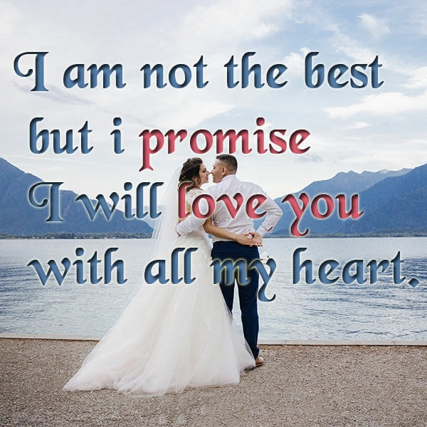 love promise english status