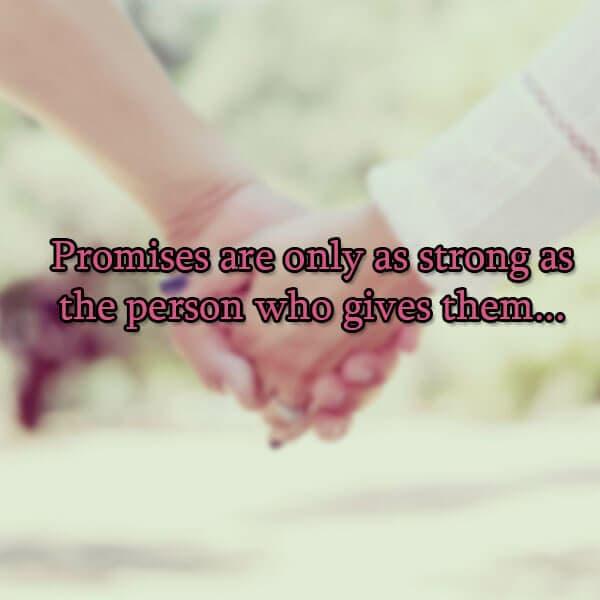 romantic promises love status