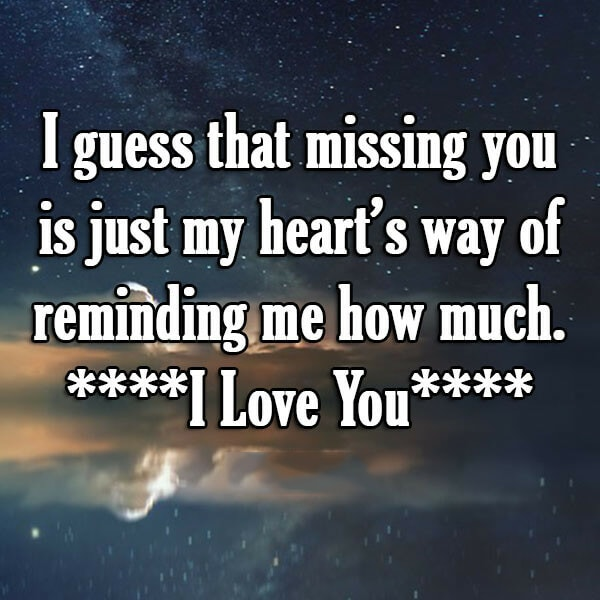 I Guess That Missing You