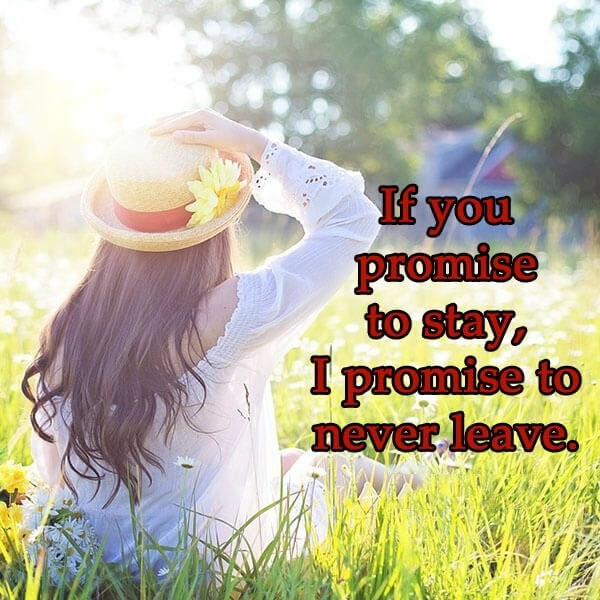 promise sms for love, promise message image