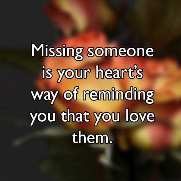 Missing Someone Is Your hearts