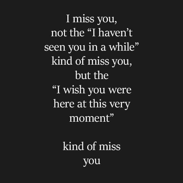 sad missing someone quotes