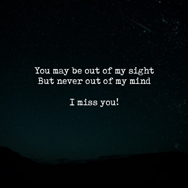 You May Be Out Of My Sight