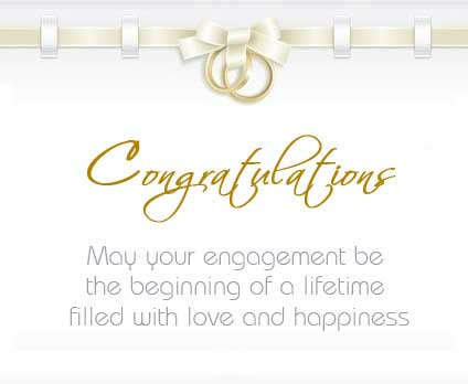Engagement wishes with image english, Congratulations quotes and wishes