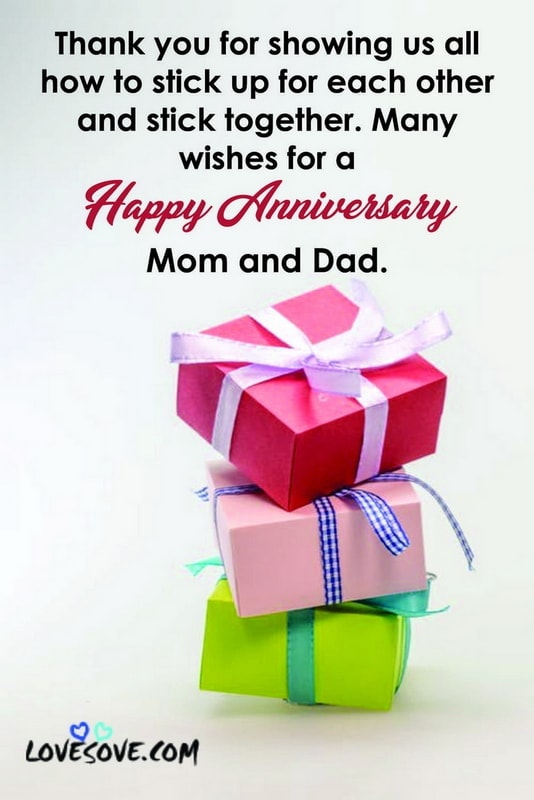 Happy Wedding Anniversary Wishes Quotes For Mom Dad