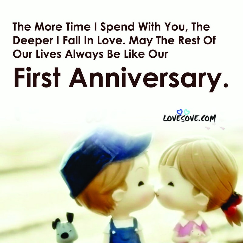 Romantic First Wedding Anniversary Wishes To Husband Wife