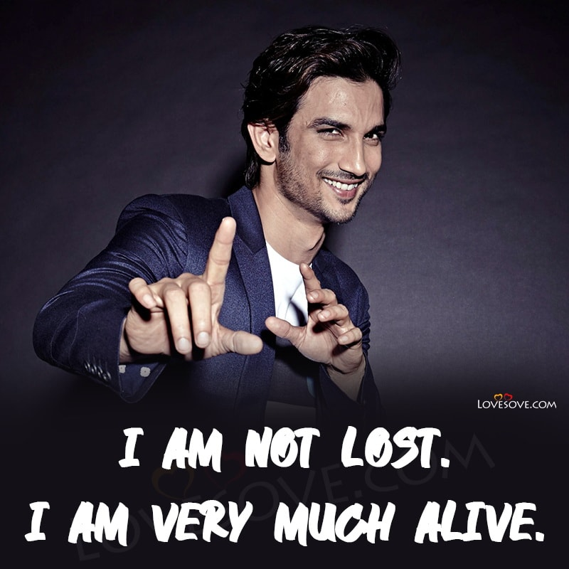 Sushant Singh Rajput Quotes, Top Status Lines, Thoughts Images