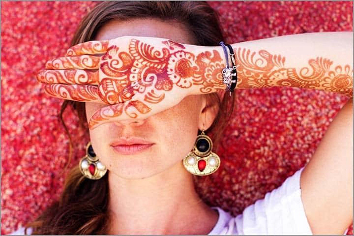 50+ Mesmerising Mehndi Designs For Ceremonies & Wedding, Wedding Mehndi Designs, elbow length floral indian mehndi design