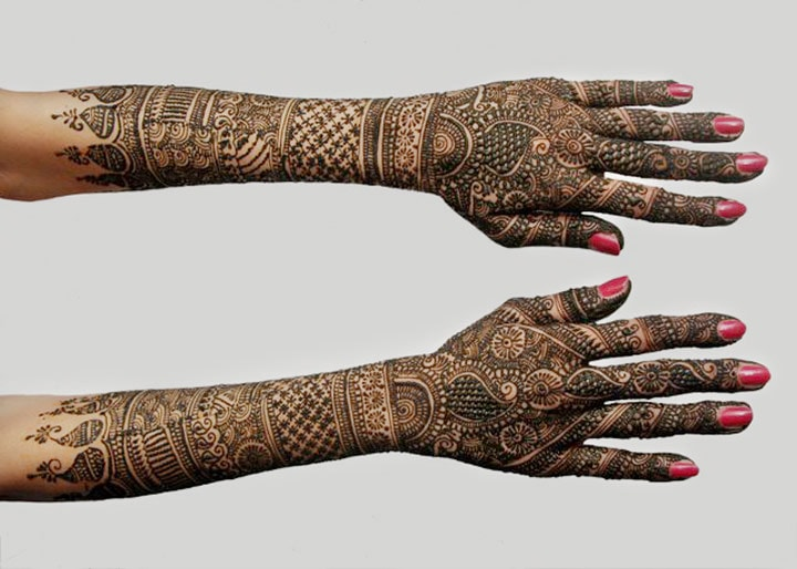 Traditional Rajasthani Bridal Henna Mehndi Design, Rajasthani Bridal Mehndi Designs For Hands, Rajasthani Bridal Mehndi Designs Images, Rajasthani Mehndi For Bridal, Rajasthani Bridal Mehndi Designs For Full Hands Back Side
