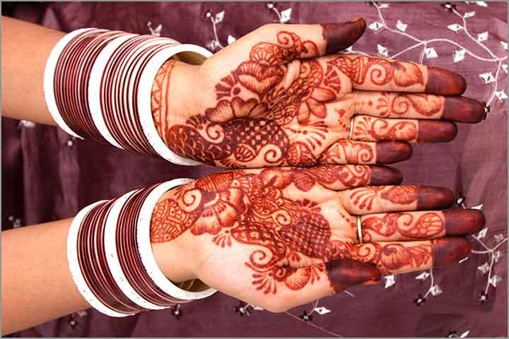 50+ Mesmerising Mehndi Designs For Ceremonies & Wedding, Wedding Mehndi Designs, large sized fusion mehndi design