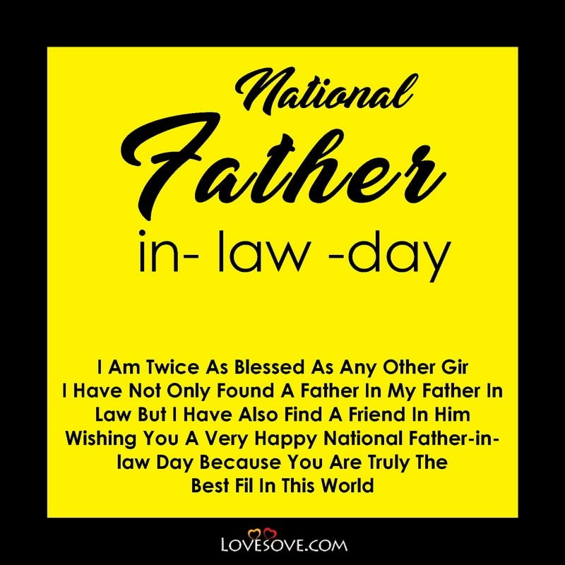 National Father In Law Day Status, National Father In Law Day, National Father In Law Day 2020, National Father In Law Day Quotes,