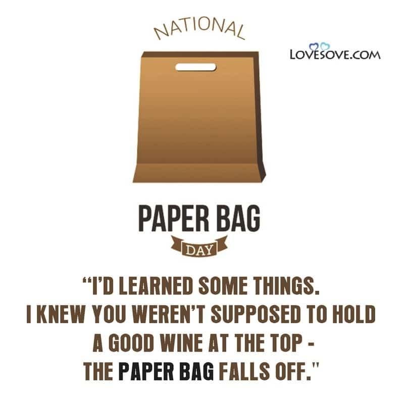 National Paper Bag Day, National Paper Bag Day 2020, Images Of National Paper Bag Day, National Paper Bag Day Pics